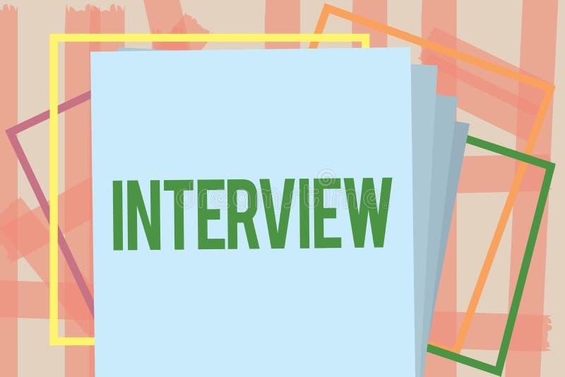 Entrevue d'apparence de note d'écriture Réunion de présentation de photo d'affaires de la représentation face à face particulière illustration de vecteur