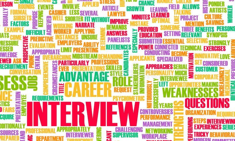 Entrevue d'emploi illustration libre de droits