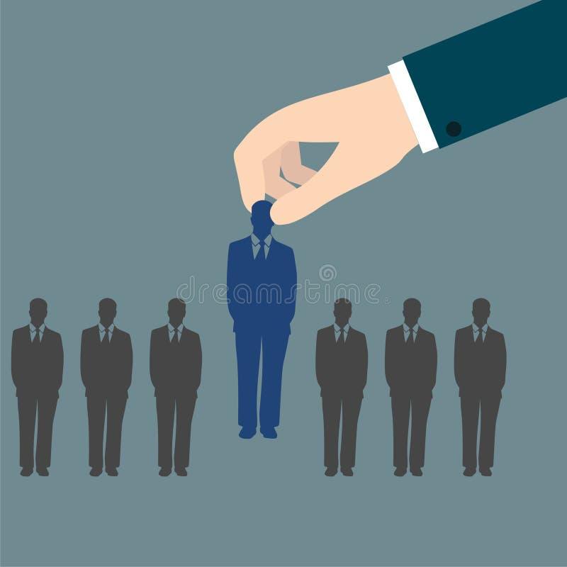 Entrevue d'emploi, concept de ressources humaines : choix du candidat parfait pour le travail illustration libre de droits