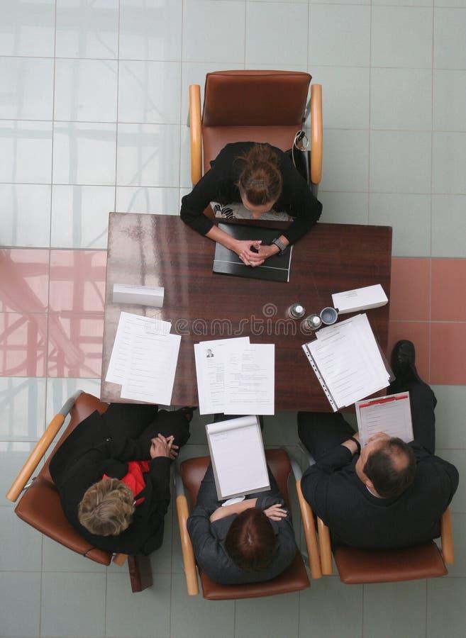 Entrevue d'emploi - contact image stock