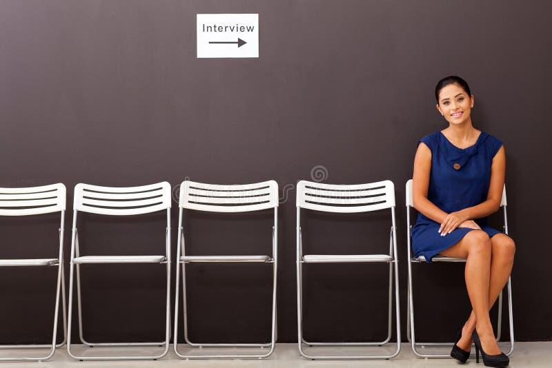 Entrevue d'emploi de femme d'affaires image libre de droits