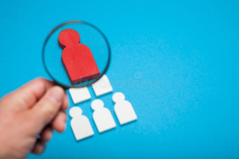 Entrevue de carrière de recrue, location humaine, compétence d'employeur Résumé de directeur photographie stock