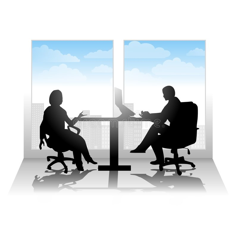 Entrevue ou contact occasionnelle de ville illustration libre de droits