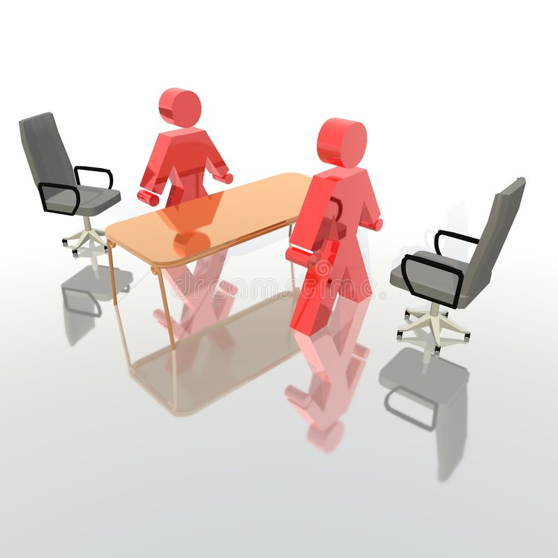 Entrevue recruteuse illustration stock