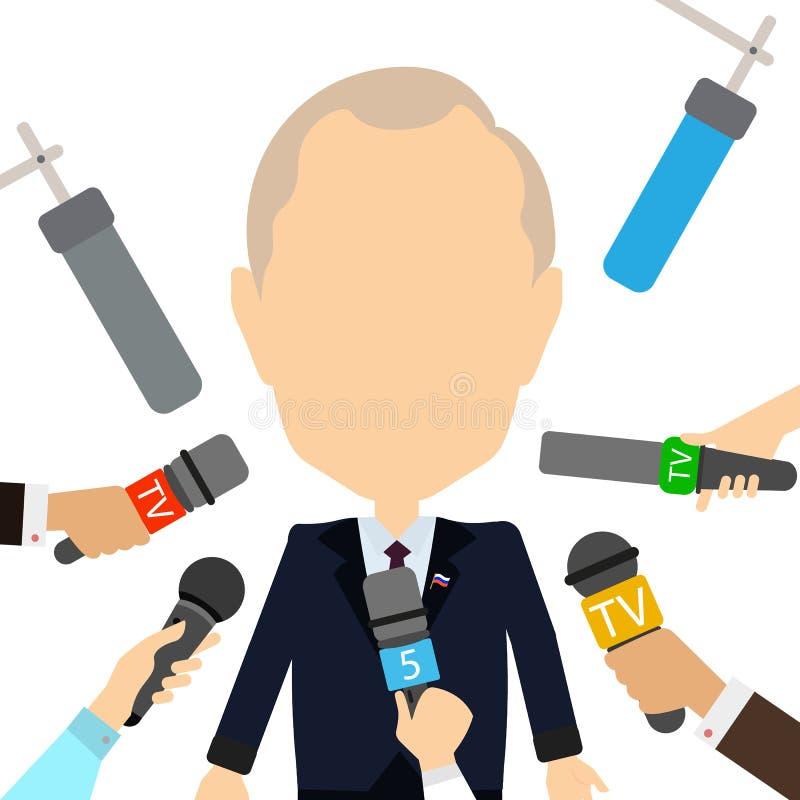 Entrevue russe de président illustration libre de droits