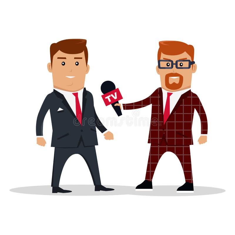 Entrevue sur l'illustration de vecteur de concept de TV illustration libre de droits