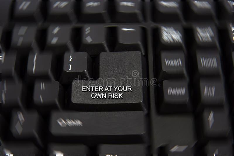 Entrez à votre propre clé de risque photographie stock libre de droits