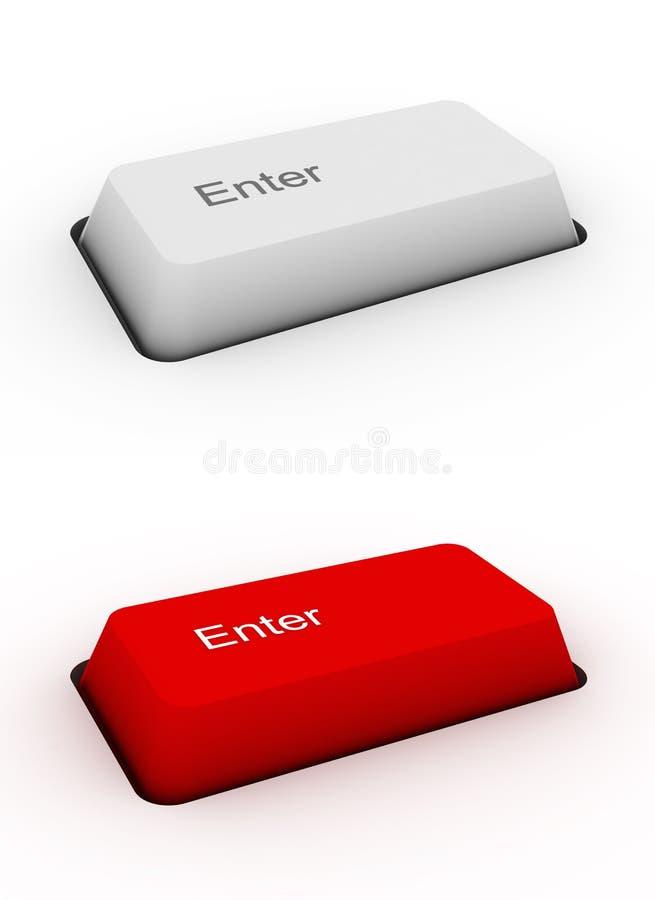 Entrez dans - le bouton de clavier illustration de vecteur