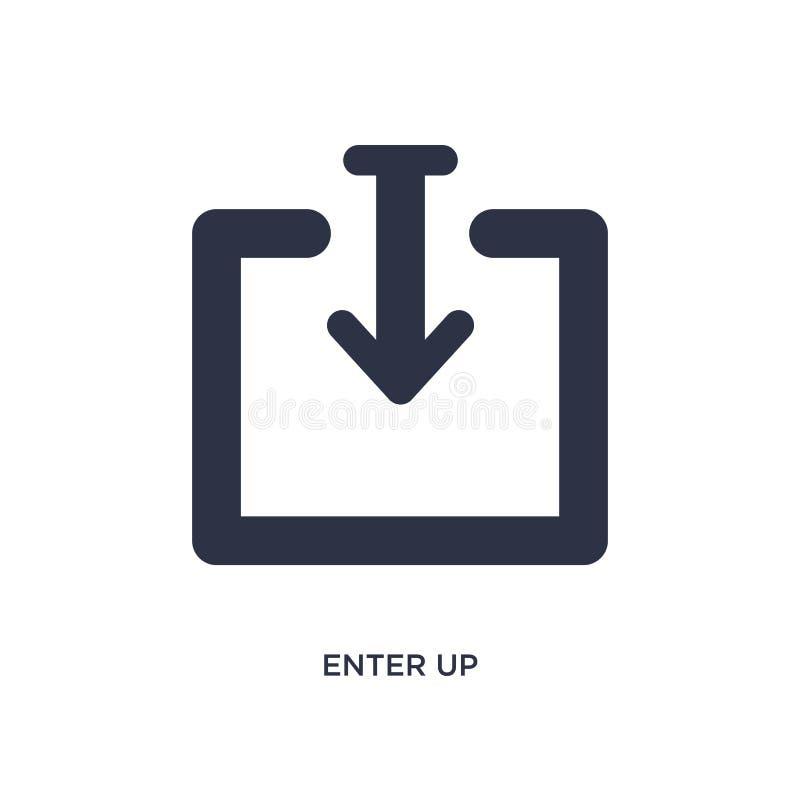 entrez vers le haut de l'icône sur le fond blanc Illustration simple d'élément de concept de flèches illustration libre de droits
