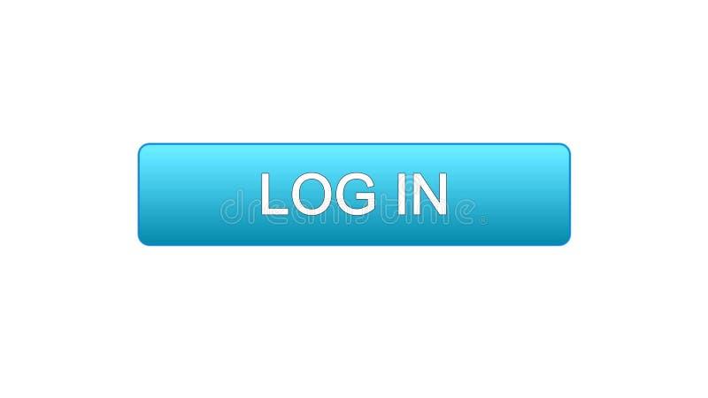 Entri il colore blu del bottone dell'interfaccia di web, il servizio di modulo di iscrizione online, progettazione del sito illustrazione vettoriale