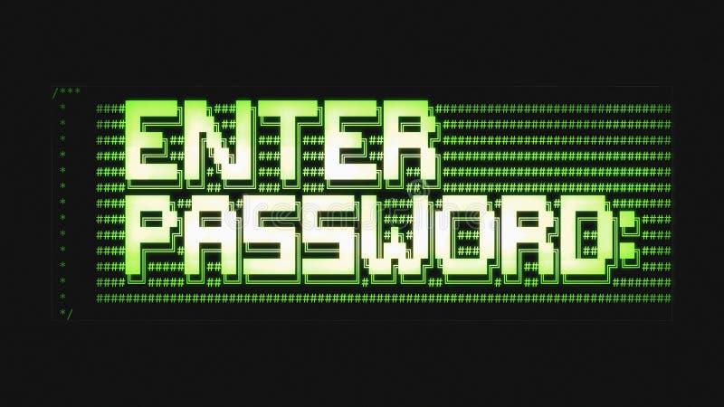 Entri nell'ASCII di parola d'ordine pulito fotografia stock