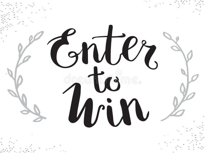 Entri per vincere il segno di vettore, vinca il premio, vittoria nella lotteria royalty illustrazione gratis