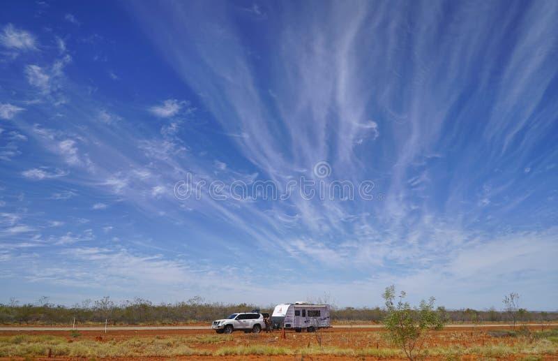 Entroterra Austrailia in Territorio del Nord fotografia stock libera da diritti