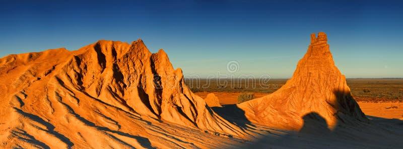 Entroterra Australia del paesaggio del deserto immagine stock libera da diritti