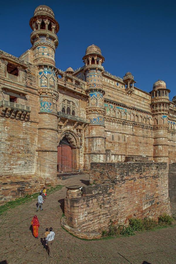Entrunce di Hathi Pol Gate di Gwalior Madhya Pradesh forte fotografie stock
