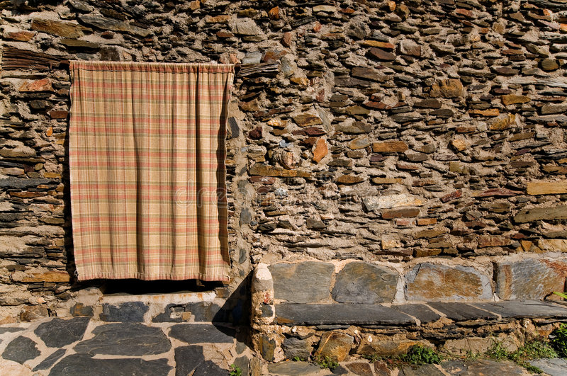 Download Entry with a curtain stock image. Image of past, home - 6711483