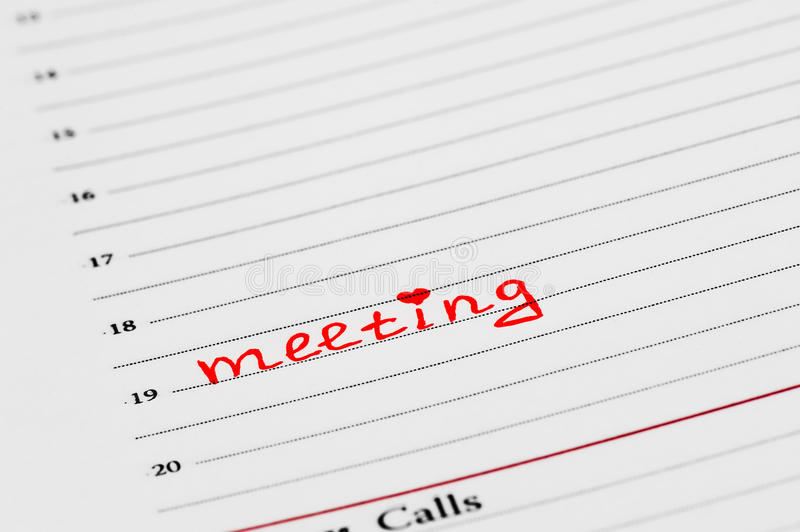 Download An entry in the diary stock photo. Image of book, meetings - 26415326