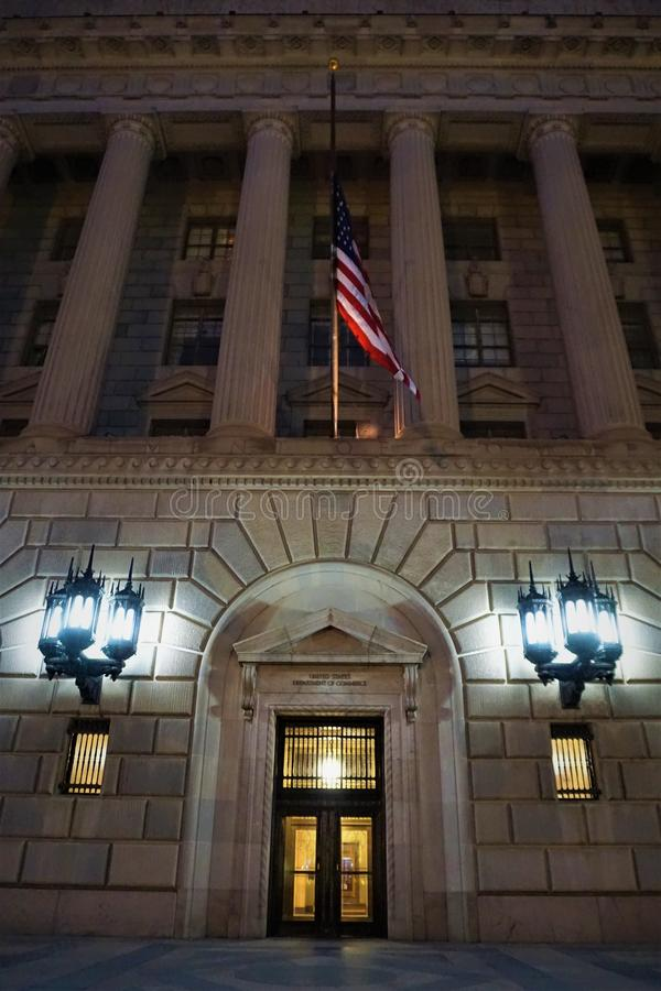 US Department of Commerce entrance royalty free stock photography