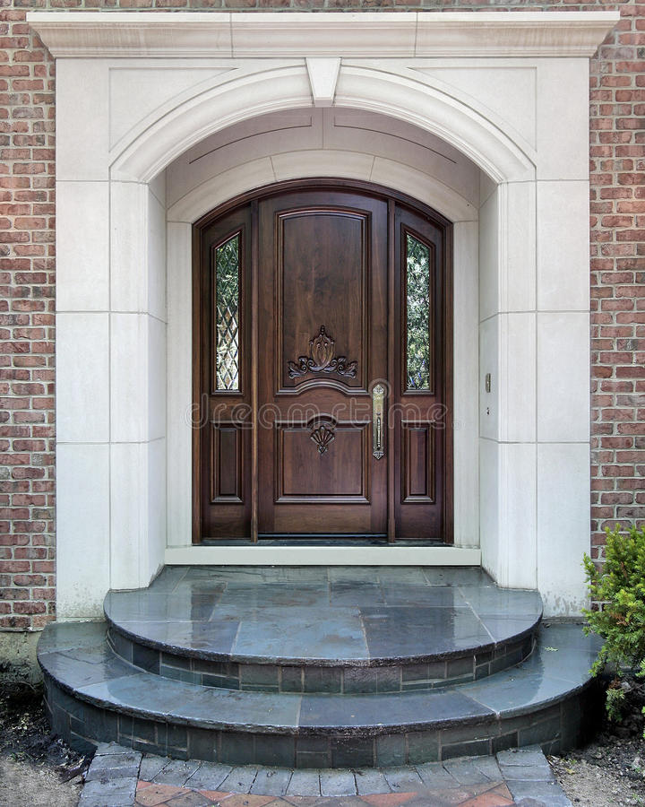Entry and doorway to luxury home royalty free stock photos