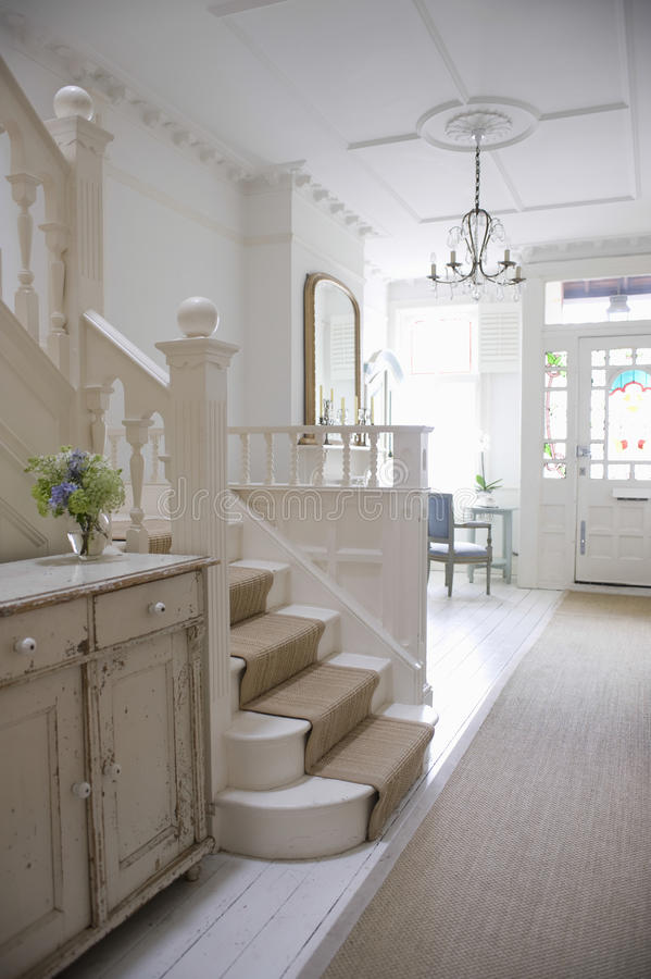 Entry Hall With Stairway stock image