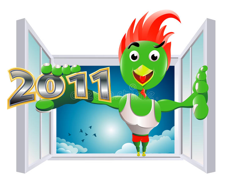 The entry of powerful New Year royalty free stock photos