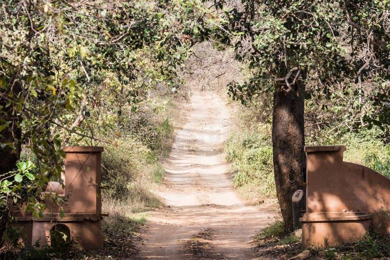 Entry-punt van Ranthambore-Park stock afbeeldingen