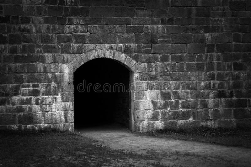 Download Entry in stone wall stock image. Image of abstract, vignetting - 43430071