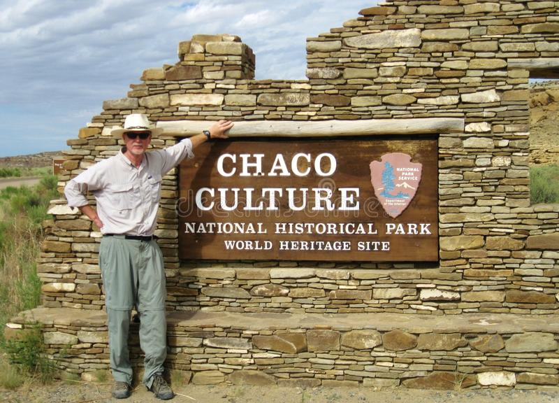 Entry to ancient, remote Chaco Canyon, a world heritage site royalty free stock photos