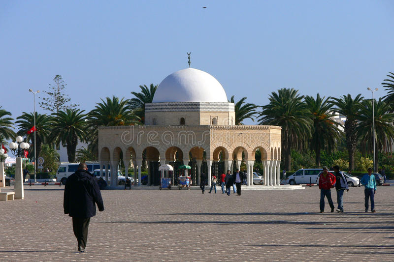 Entry to the Habib Bourguiba Mausoleum royalty free stock image