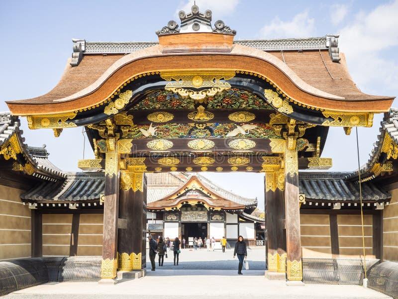 Entry to Nijo Castle stock photo