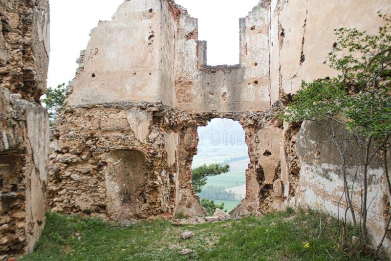 entry to an old castle ruin stock photos