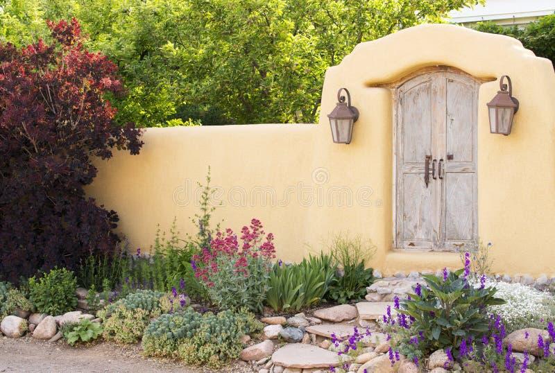 Entryway near Canyon Road in Santa Fe. New Mexico royalty free stock photography