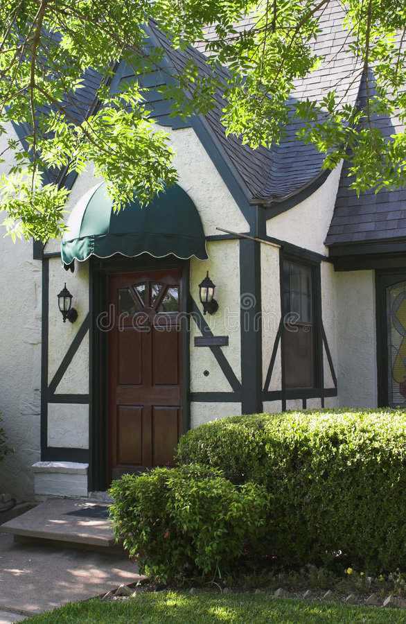 Entryway to Tudor Style House 2 royalty free stock images