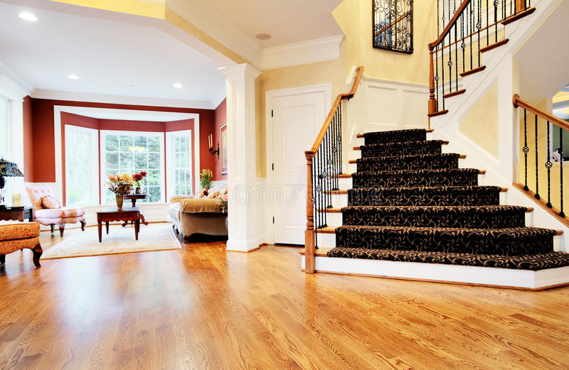 Entryway in Upscale Home stock photo
