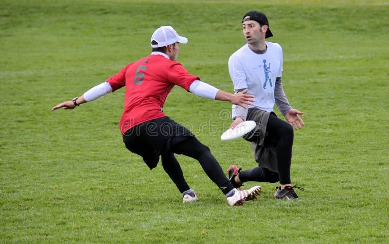 Entscheidender Frisbee stockfoto
