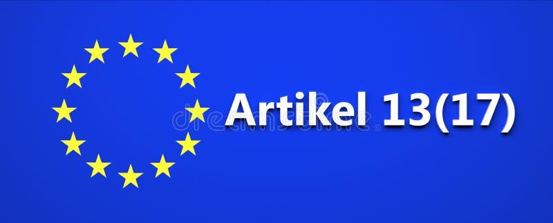 Entscheidung der Europäischen Gemeinschaft Gesetzes- Illustration stock abbildung