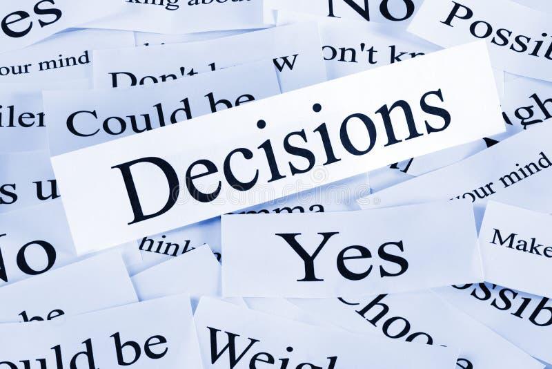 Entscheidungs-Konzept lizenzfreie stockbilder