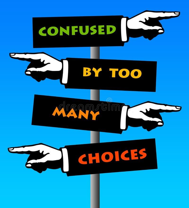 Entscheidungsermüdung stock abbildung