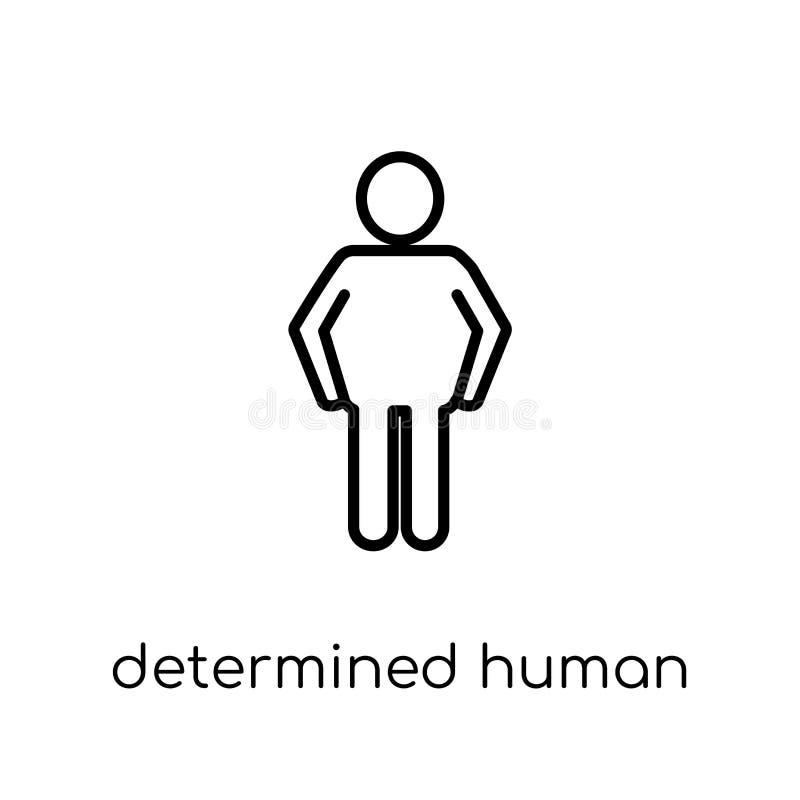 entschlossene menschliche Ikone Modisches modernes flaches lineares Vektor determin lizenzfreie abbildung