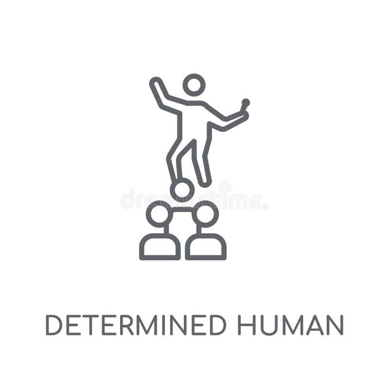 entschlossene menschliche lineare Ikone Moderner Entwurf entschlossenes menschliches lo lizenzfreie abbildung