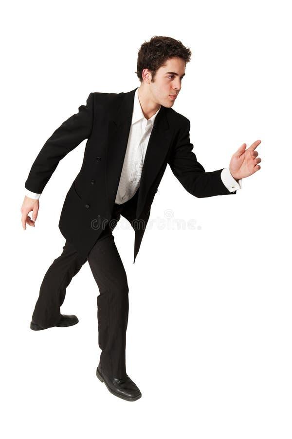 Entschlossener junger Geschäftsmann stockfoto