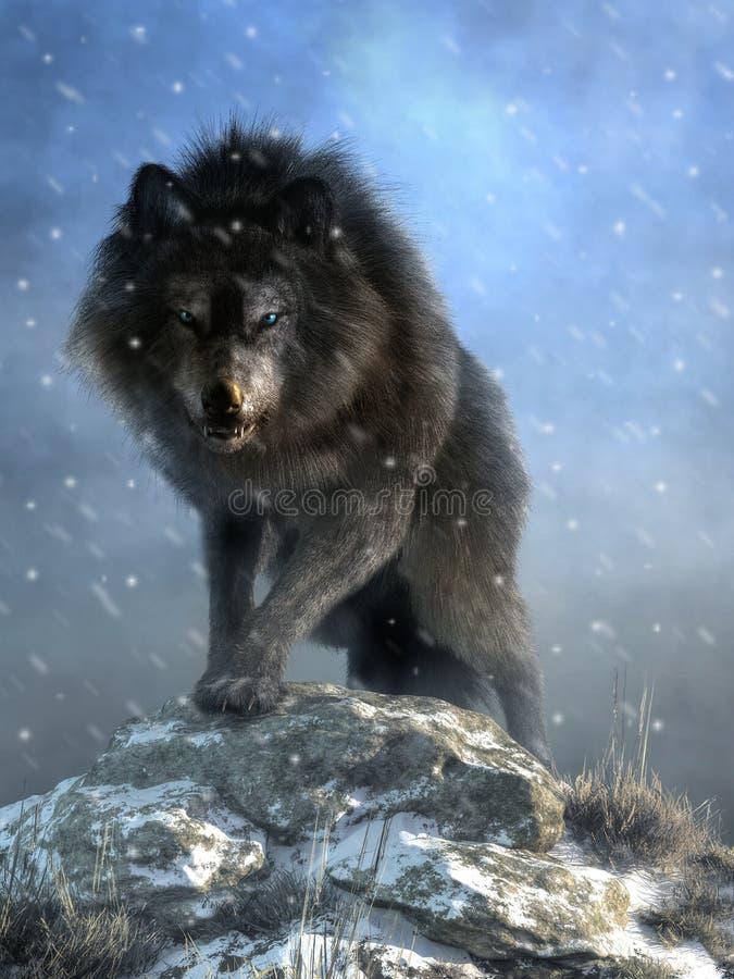 Entsetzlicher Wolf lizenzfreie abbildung