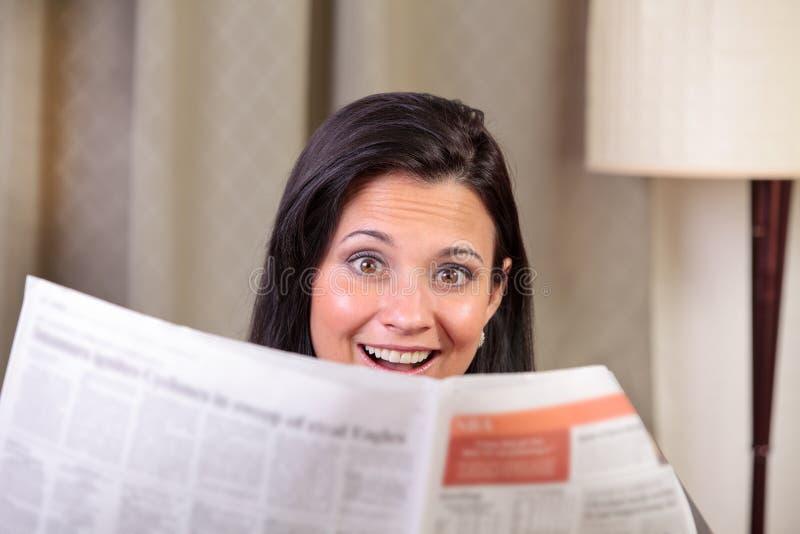 Entsetzte Frau lizenzfreies stockfoto