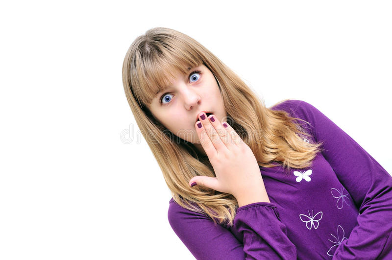 Entsetztes Mädchen stockfoto