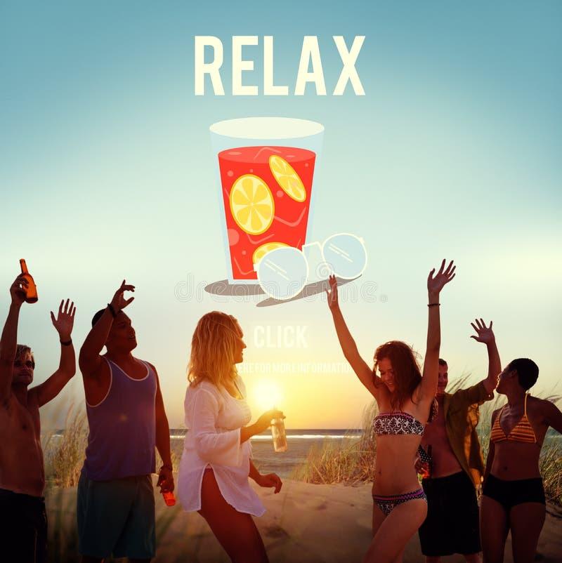 Entspannen Sie sich Entspannungs-Ferien-Sommer-Konzept lizenzfreie stockfotografie