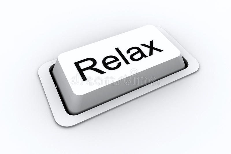 Entspannen Sie sich Taste stock abbildung