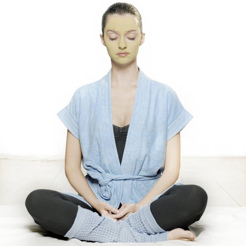 Entspannende Frau lizenzfreies stockbild
