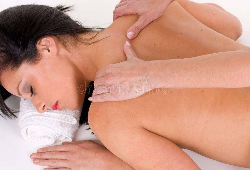 Entspannende Massage stockfoto