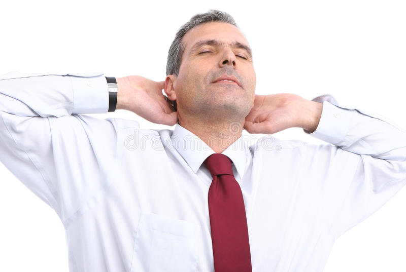Entspannender Geschäftsmann lizenzfreies stockbild