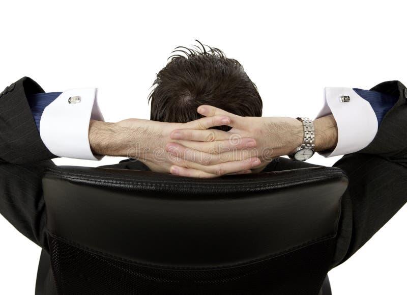 Entspannender Mann stockbild